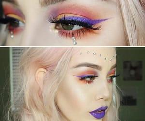 coachella, glitter, and hailie barber image