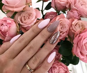 nails, rose, and cute image