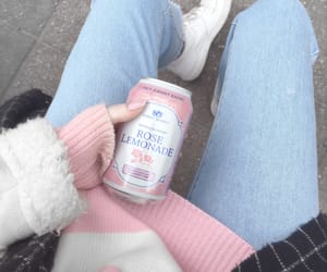 aesthetic, jeans, and pink image
