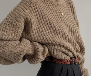 sweater, beige, and fashion image