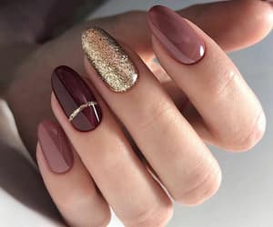 gold, nails, and purple image