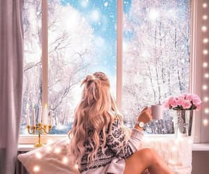 blonde, christmas, and home image