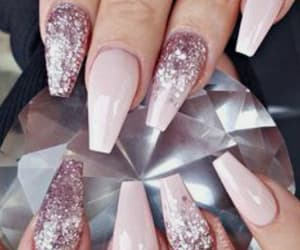nails, design, and glitter image