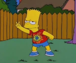 simpsons, grunge, and peace image