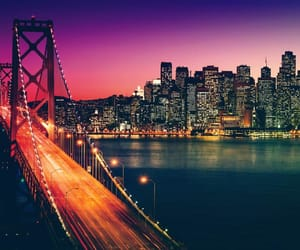 san francisco, city, and light image