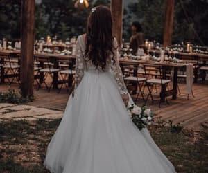 bridal, bride, and wedding image