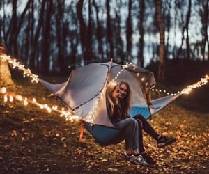 autumn, lights, and friends image
