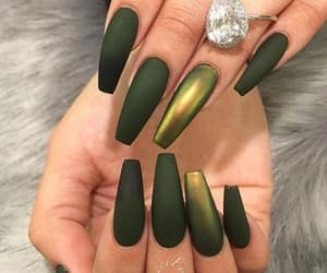 green, nails, and verde image