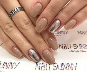 glitter, nail, and silver image
