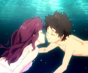 adventure, girl, and anime couple image