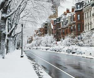 christmas, city, and white image