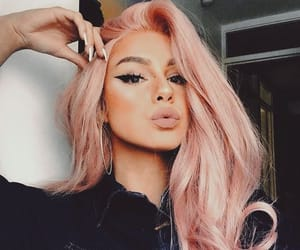 makeup, pink hair, and pink image