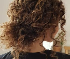 curly, hair, and hairstyle image