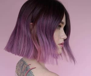 color hair, girly, and hair cut image
