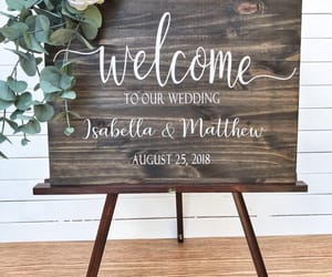 etsy, wooden wedding signs, and rustic wedding decor image