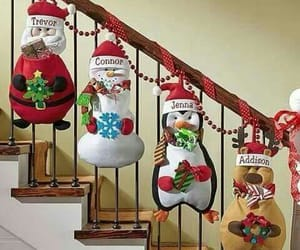 christmas, hollydays, and staircases image