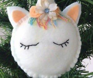 christmas, unicorns, and decorations image