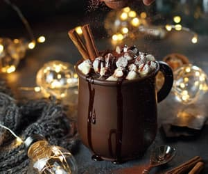 light, coffee, and holiday image