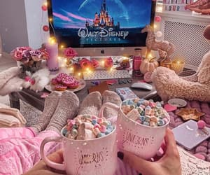 disney, winter, and pink image