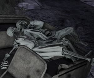 couple, fallout, and skeletons image