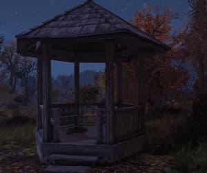 autumn, gazebo, and night image
