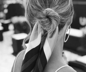hair, fashion, and black and white image