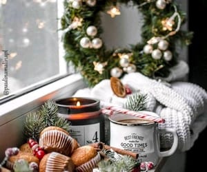 christmas, candle, and cozy image