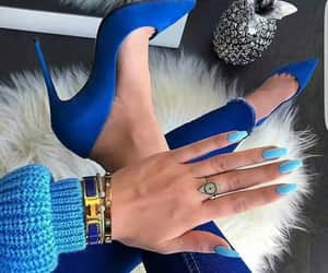blue, nails, and fashion image