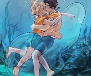 art, kiss, and water image