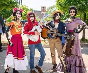coco, costumes, and dia de muertos image