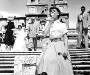 audrey hepburn, ice cream, and roman holiday image