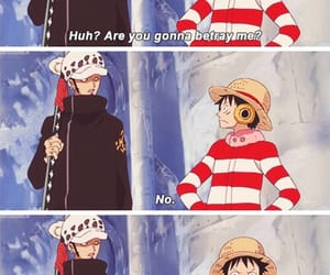 one piece, luffy, and Law image