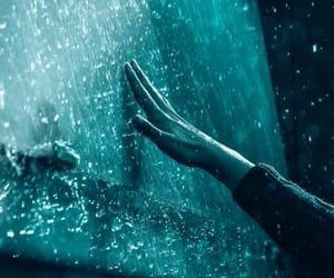 hand, rain, and water image