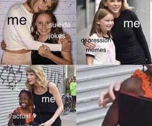 comedy, dark humour, and depression image