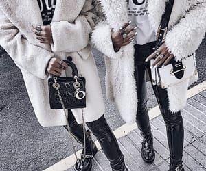fashion, coat, and bags image