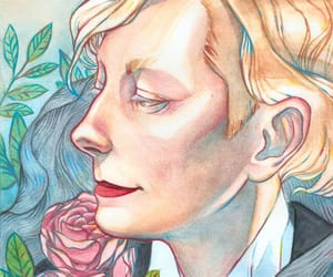 illustration, Tilda Swinton, and traditional art image