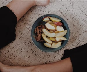 apple, fit, and food image