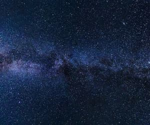 space, stars, and blue image