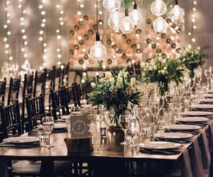beauty, dinner, and lights image