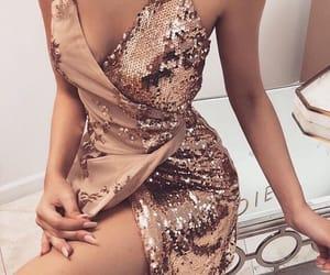dress, glitter, and lady image