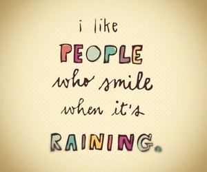 smile, rain, and people image