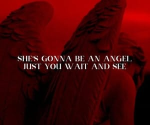 Lyrics, red, and only angel image