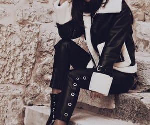 coat, fall, and fashion image