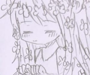 anime, drawing, and flower image