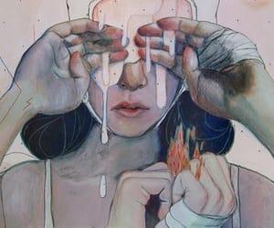 art, sad, and cry image