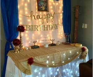 beauty and the beast, blue and yellow, and birthday image