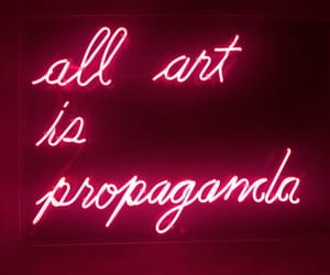 art, neon, and quotes image