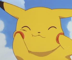 anime, gif, and pikachu image