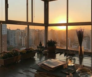 city, interior, and sunset image