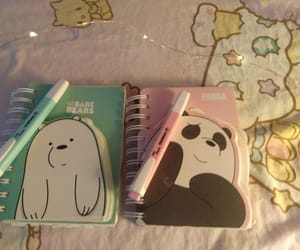 blue, journals, and pink image